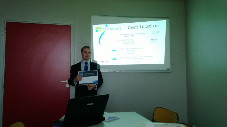 Mickaël CHLOT Certifié MSCA Windows 7